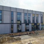 the outside of the translational energy research centre mid-construction