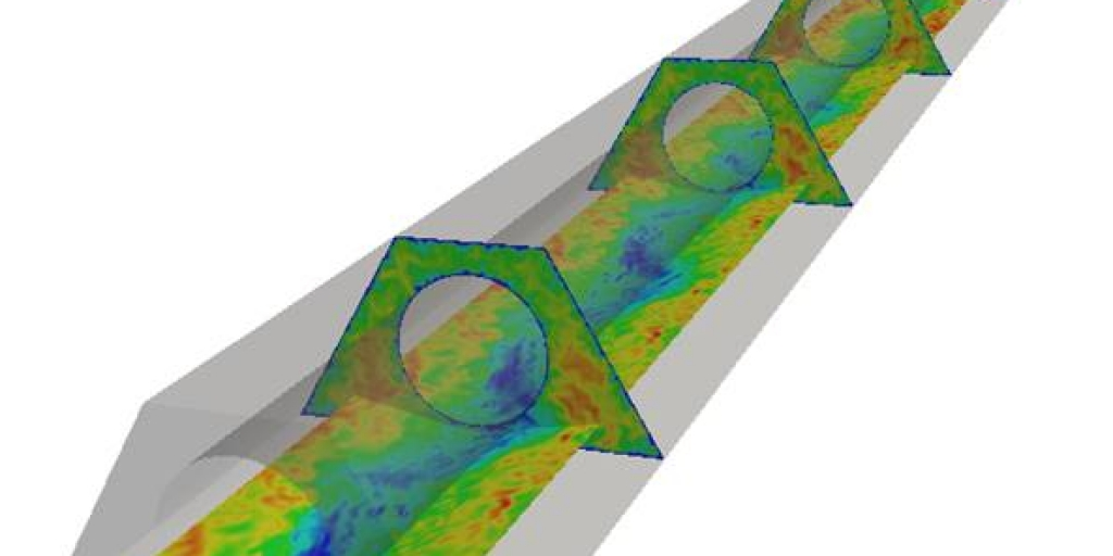 a diagram from a simulation of fluid modelling
